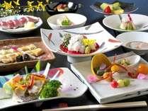 【和会席膳】天然本鮪寿司と活鱧・鮑ステーキの会席膳