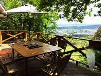 【BBQテラス】生駒山から望む景色とともにいただくBBQは解放感もまた格別★