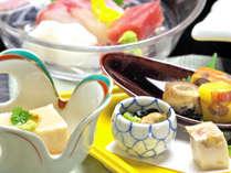 *【グレードアップ料理】一例。瀬戸内の旨い魚介類・地元野菜や山の幸と割烹旅館ならではの拘り料理です。