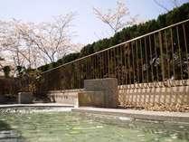 露天風呂(4月)