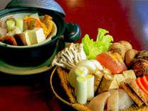冬のレディースプラン|冬の野菜の蒸し鍋+猪or豚  「女性同士で温泉&お食事をたっぷり楽しむ」特典付き