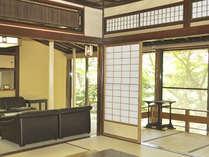 【春の館/準特別室/512/朝賀】応接室や炬燵間もあるお部屋。庭の景色は最高です。