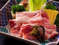 能登豚味しゃぶ。春野菜・とろける豆腐
