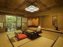 特別室『蓬莱の間』和室2室+半露天風呂付客室