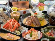 定番人気の3種の蟹会席★季節の和会席&蟹料理&能登豚を愉しむ冬!