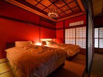 【穏やかな寛ぎ空間】『秋の館~和洋室~』12.5畳+ベッドルーム