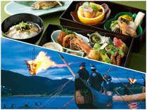 鵜飼プラン2015【船中夕食+鵜飼乗船】~和風弁当・天然鮎の塩焼き付~