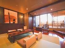 露天風呂付のお部屋♪※客室によって内装は異なります。(部屋指定は出来かねますのでご了承下さいませ。)