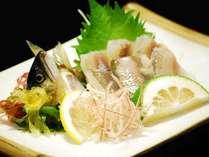 ■鮎刺身…中骨がなくて、食べやすいと好評!からし酢味噌を付けてどうぞ♪