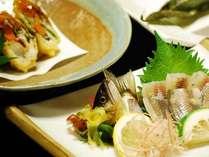 【鮎料理(魚コース)一例】霧島の清流で育った鮎を使用!味覚にも彩りにもこだわった鮎づくし☆