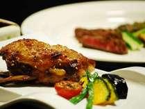 【肉コース一例】オーナー厳選の薩摩産黒豚・黒毛和牛をオリジナル料理でお楽しみください♪