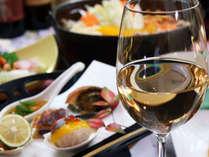 【スタンダード~】千年湯と甲州ワイン、素材自慢「甲州会席」&炉端でほうとう鍋♪