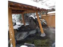 露天風呂 冬