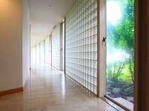 ◆優しい光が注ぐ、ツインルームAタイプのある3階の廊下。