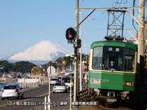 !江ノ電と富士山※イメージ/写真提供:鎌倉市観光協会