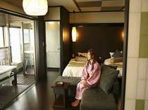 Aタイプ/【露天風呂付客室から】海や漁港を眺めて
