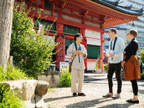 """【周辺観光】 """"宿坊""""ならでは。周辺寺院の散策マップを見所と共にお渡しいたします"""