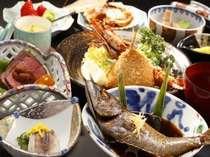 元漁師のご主人の目利きと女将の腕が光る人気の食事(夕食一例)