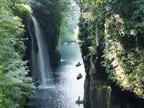 【周辺観光】高千穂峡/貸しボートから見上げる落差17mの滝は迫力満点!