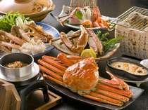 王道☆カニのフルコース例。やっぱり王道が一番!ボイル・蟹刺し・かに鍋・焼き蟹を贅沢に♪