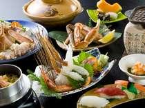 イチオシ☆カニのフルコース例。蟹の鉄板焼きは香ばしいバターと蟹の香りがたまらない♪