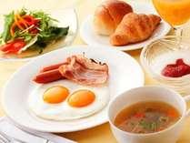 朝食 洋食の一例