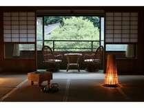 山上川沿いのお部屋は静かな和空間。。