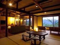 飛騨建築を随所に施した露天風呂付特別室