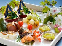 """□旬菜美味会席□旬の食材をふんだんに使った、""""彩り豊かな""""会席に仕上げました。"""