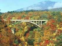 紅葉の名勝「鳴子峡」まで車で約15分。御殿湯駅からの電車旅もオススメ
