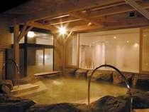 池田さくら温泉直送の露天風呂