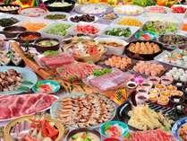 夕食バイキング(写真はイメージです)大漁鍋やお寿司、お刺身などお楽しみください
