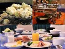 朝食バイキング(写真はイメージです)車麩とアオサの天ぷら、手作り豆腐など