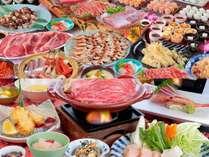 ご夕食はバイキング、又は和食お手軽会席をご用意致します。