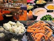 朝食バイキング(写真はイメージです)車麩の天ぷらや甘エビ焼きなど