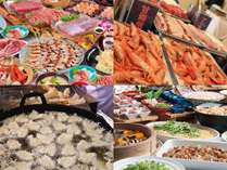 夕食バイキング(写真はイメージです)和食と洋食、キッチンコーナーでの天ぷらもご一緒に。