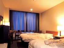洋室のお部屋です。ツインルームになります。