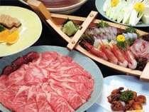 【牛肉】と【海の幸】をお楽しみ下さいませ♪