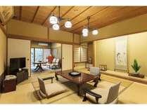 《1泊2食付平安亭客室》迷ったらこのお部屋!和室二間+リビング+内風呂温泉のスタンダードプラン