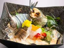 【夏!海の幸を堪能☆】能登の塩・醤油で食す夏のお造り5種盛り付き 宿泊プラン