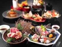 人気の料理を1度に堪能!【お造り10種盛り&能登肉3種】あえの風満腹プラン