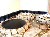 *五右衛門風呂は、天然水を使用しています。