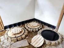 *古き良きお風呂を味わえる露天の五右衛門風呂