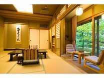 【柊】広い窓よりお庭をご覧頂けます。