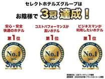 セレクトホテルズグループ 顧客満足度No.1三冠達成!