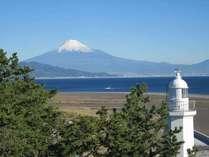 富士山と清水灯台
