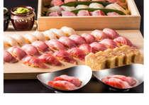 プレミアムバイキングフェア 夕食 金目鯛握り寿司、金目鯛バッテラ