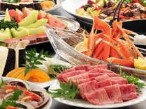 焼肉・ズワイカニメインの【夏のファミリー料理】。夏をしらさぎで思いっきり楽しもう!