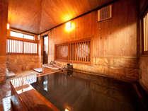 ●【檜風呂 内風呂】檜が香るゆったり温泉をお愉しみいただけるお風呂は貸切風呂でご利用いただけます。