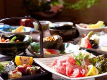 ●【ゆめさき懐石一例】京風懐石をベースに、和の伝統と創作料理も取り入れた斬新なお料理です。